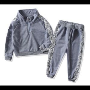 NWT 1T last size Toddler girl tracksuit